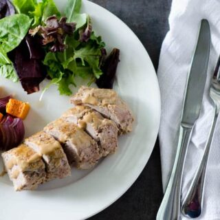 Mustard Glazed Pork Tenderloin