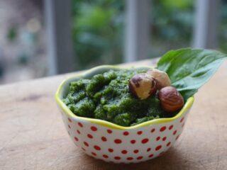 Basil Hazelnut Pesto | PaleoScaleo.com