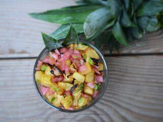 Roasted Pineapple Salsa | Paleo Scaleo