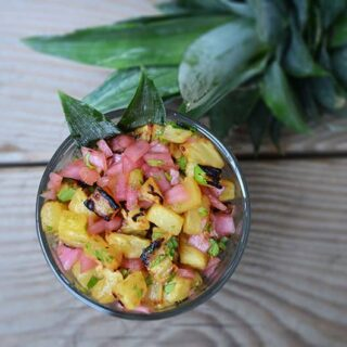 Roasted Pineapple Salsa | Paleo Scaleo
