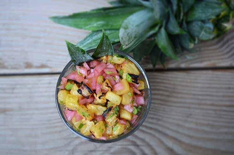 Roasted Pineapple Salsa   Paleo Scaleo