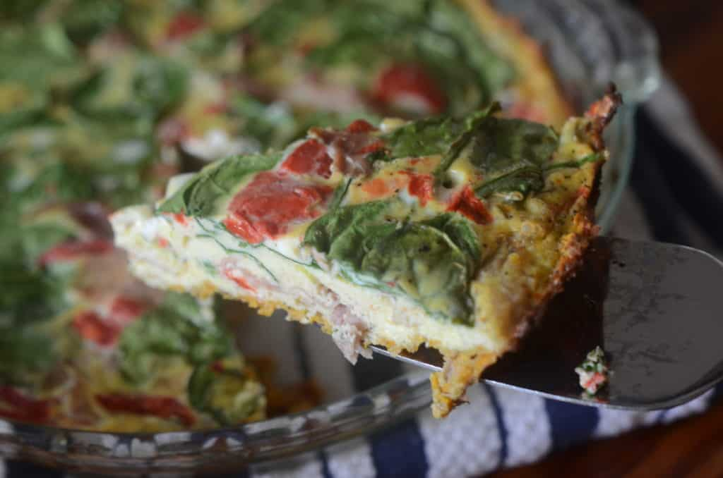 Sweet Potato Crust Quiche| Paleo Scaleo