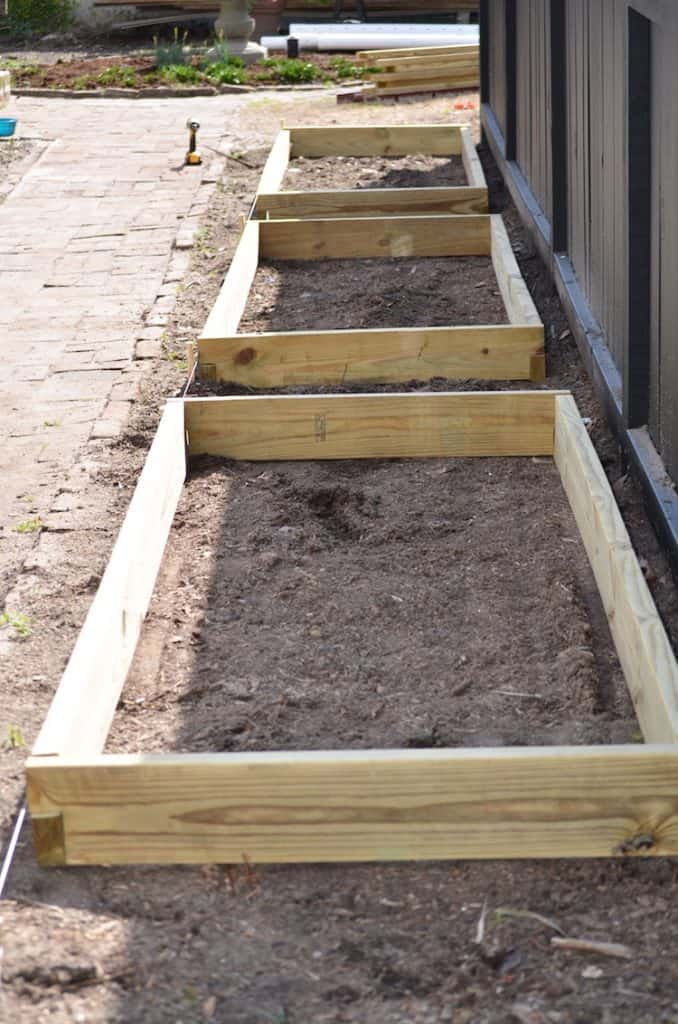 Homemade Raised Beds