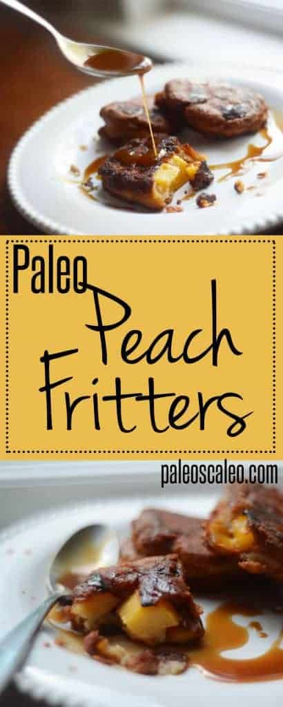 Paleo Peach Fritters with Maple-Bourbon Glaze