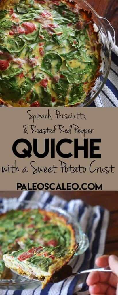 Paleo Quiche with Sweet Potato Crust