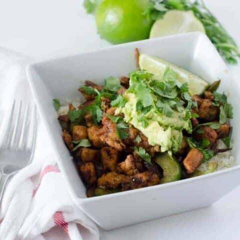 Chipotle Chicken Burrito Bowl   paleoscaleo.com