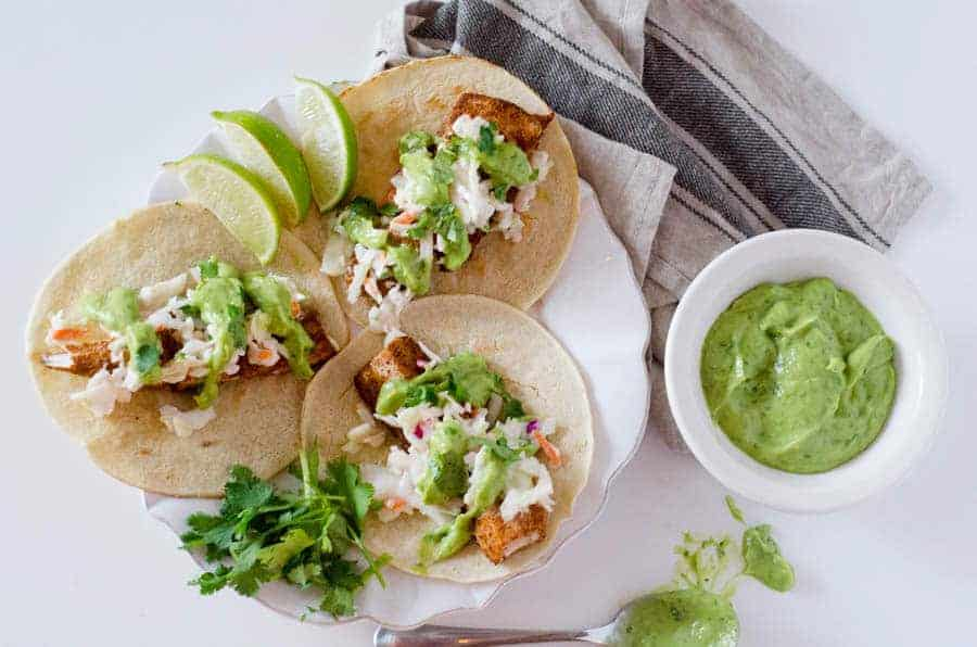 Spicy Fish Tacos with Jalapeno Lime Slaw   PaleoScaleo.com