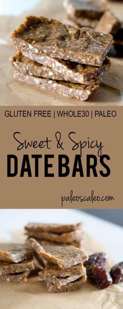 Sweet & Spicy Date Bars   PaleoScaleo.com