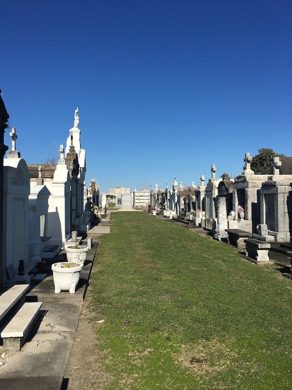 St Louis Cemetery #3 above ground tombs New Orleans LA