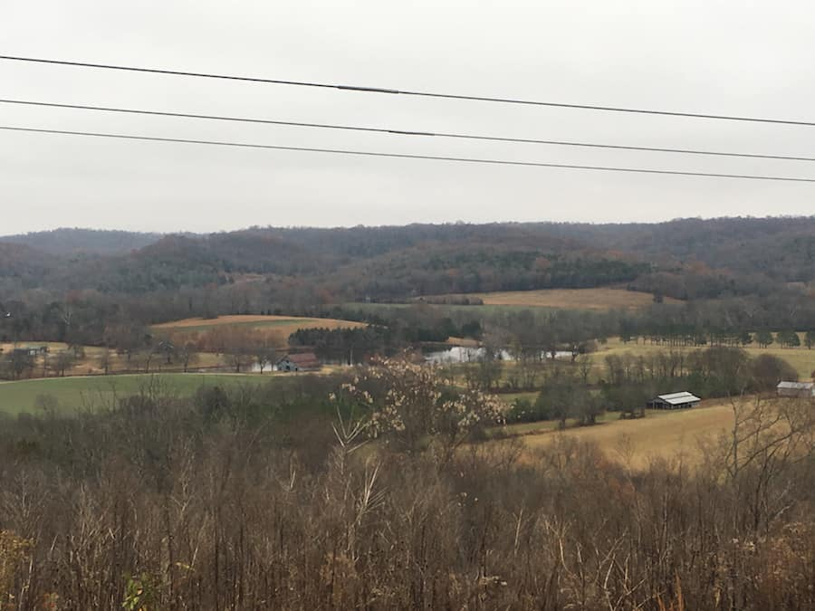 view from Natchez Trace Parkway