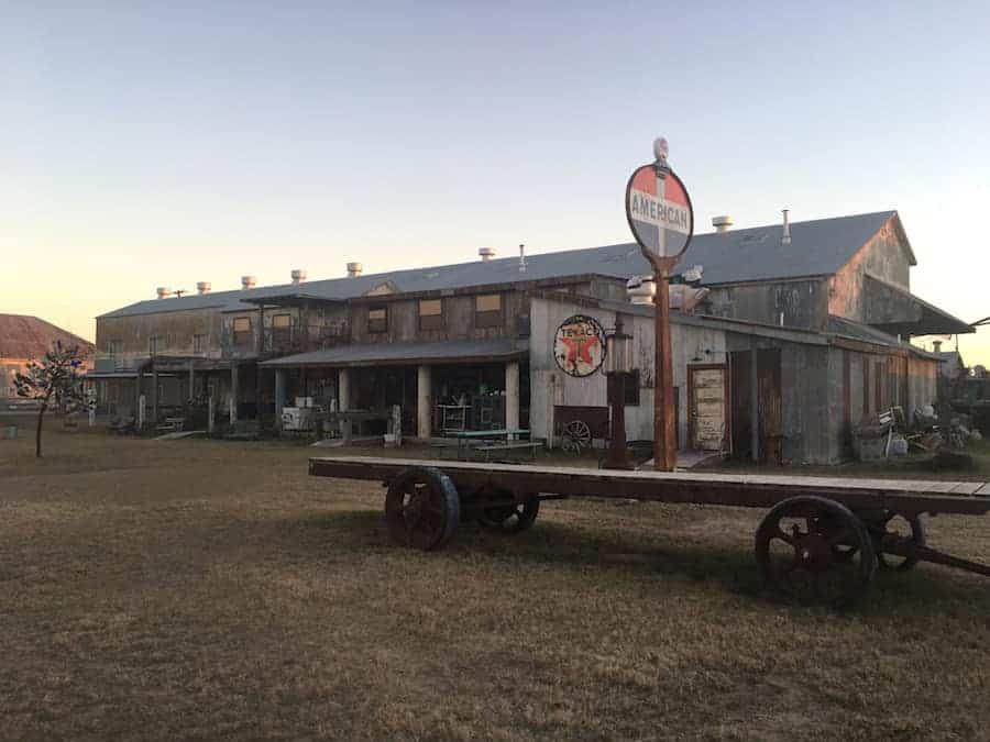 Old farm building at The Shack Up Inn