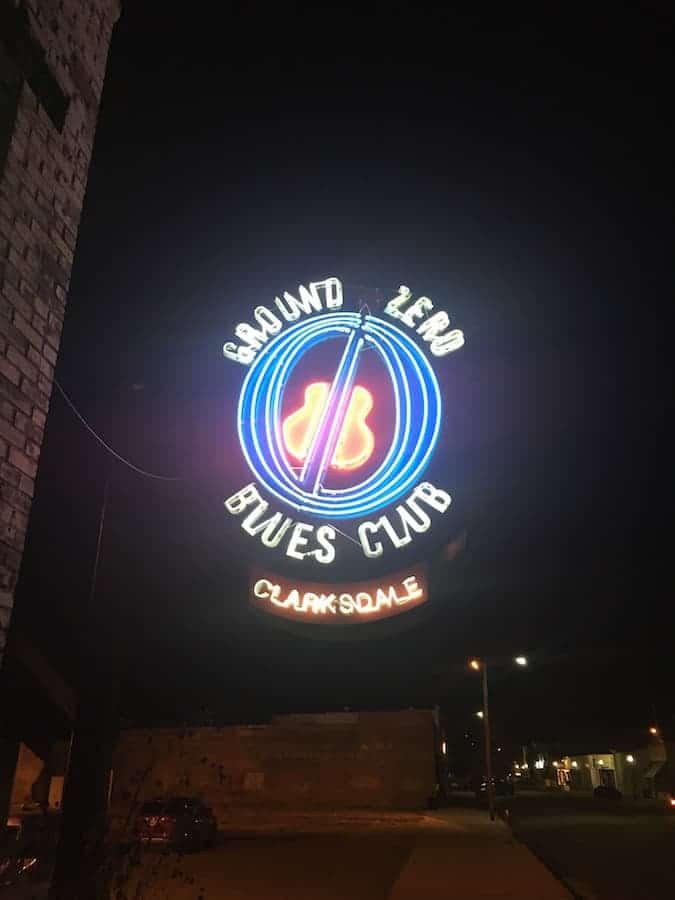 Ground Zero Blues Club neon sign