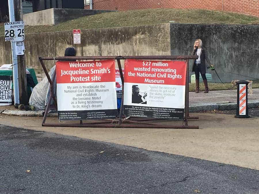 Jacqueline Smith's protest site
