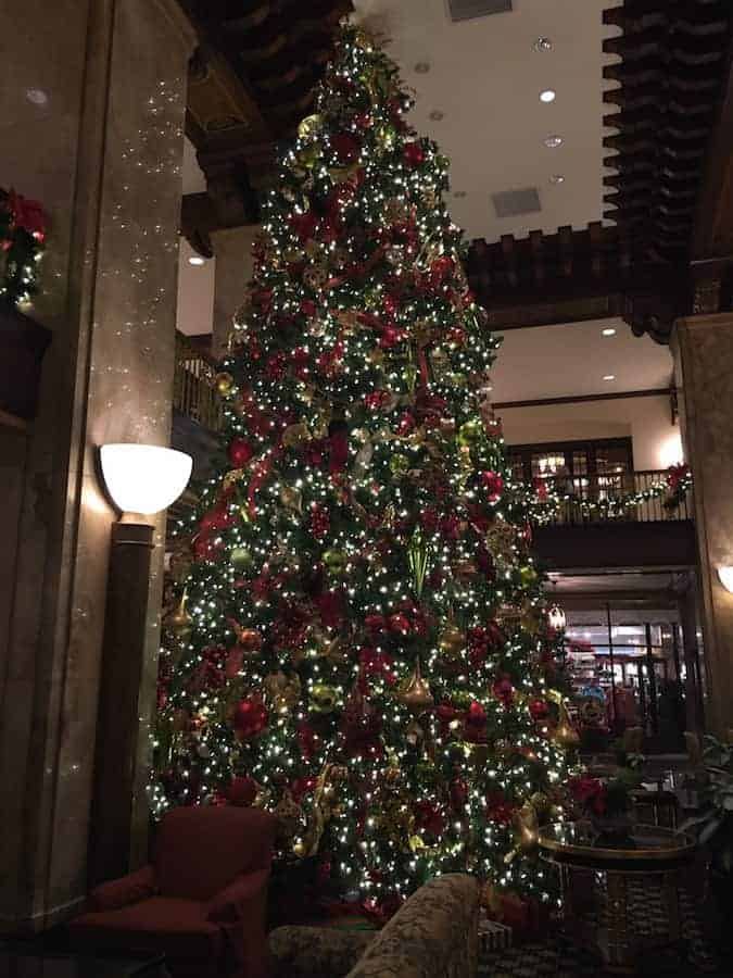 Christmas Tree in The Peabody Hotel in Memphis TN