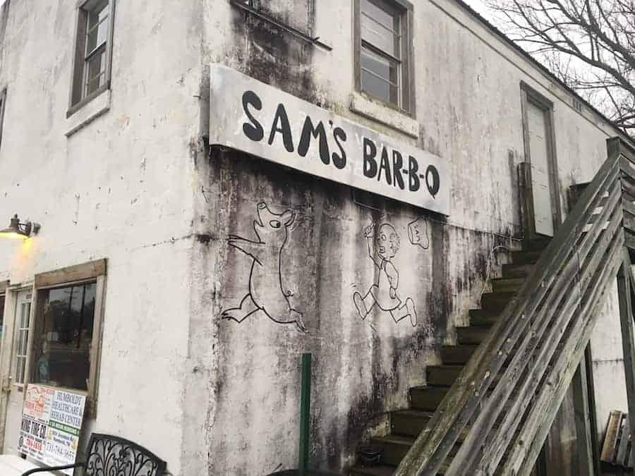 Sams BBQ Building Humbolt TN