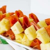 Pepperoni & Pineapple Skewers   PaleoScaleo.com
