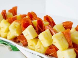Pepperoni & Pineapple Skewers | PaleoScaleo.com