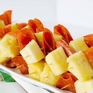 Pepperoni & Pineapple Skewers | PaleoScaleo.com