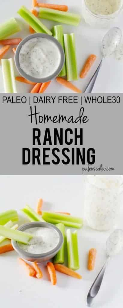 Homemade Ranch Dressing | PaleoScaleo.com