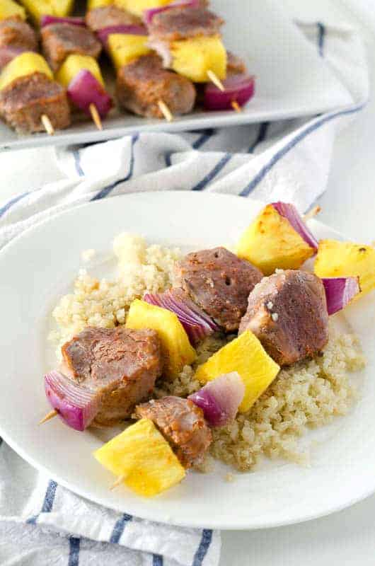 Pork and Pineapple Skewers | PaleoScaleo.com