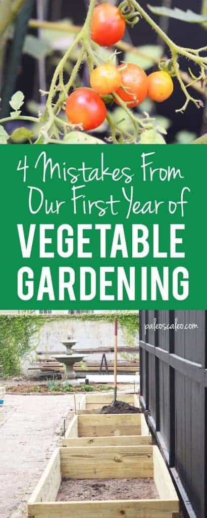4 Mistakes learned from in our first year of vegetable gardening! | PaleoScaleo.com