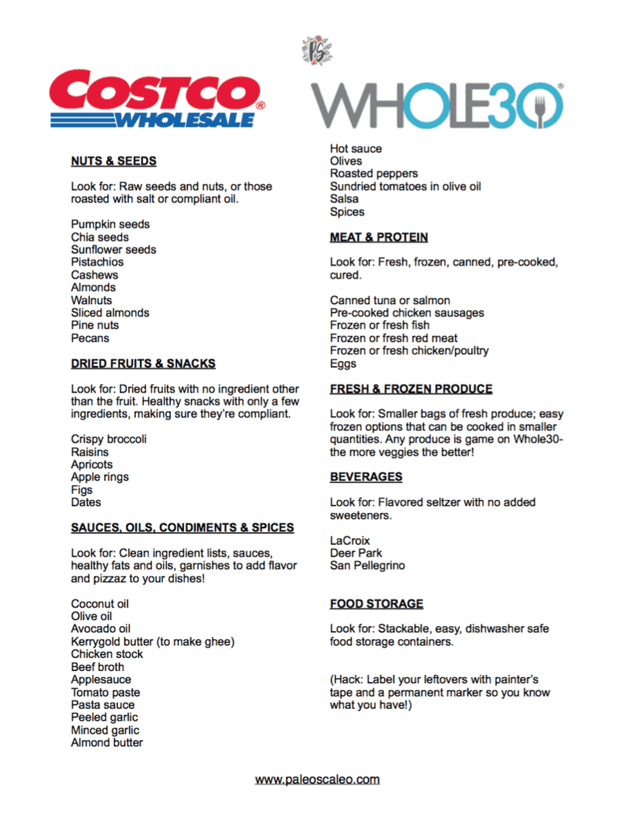 The only whole30 costco shopping list you 39 ll ever need for Healthiest fish list
