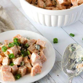 Sweet Potato Salad with Bacon and Green Onions