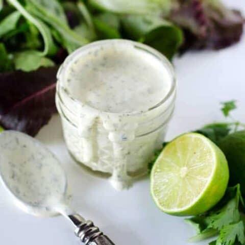 Creamy Cilantro Lime Dressing | paleoscaleo.com