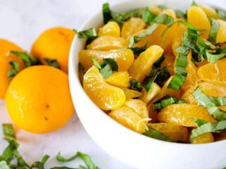 Orange Basil Fruit Salad | PaleoScaleo.com