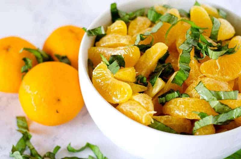 Orange Basil Fruit Salad | PaleoScaleo.com