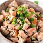 Sweet Potato Salad with Bacon and Green Onion | paleoscaleo.com