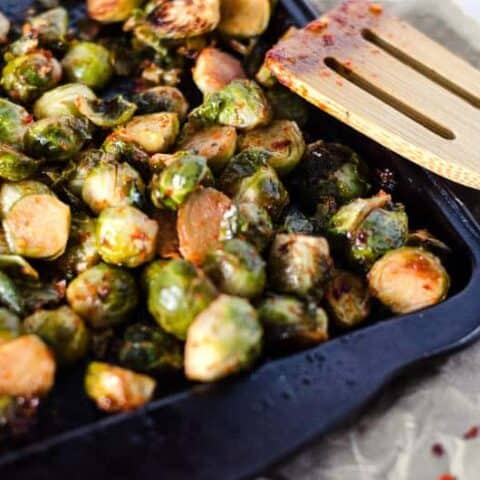 Chili Roasted Brussel Sprouts