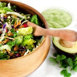Southwestern Taco Salad with Avocado-Lime Dressing