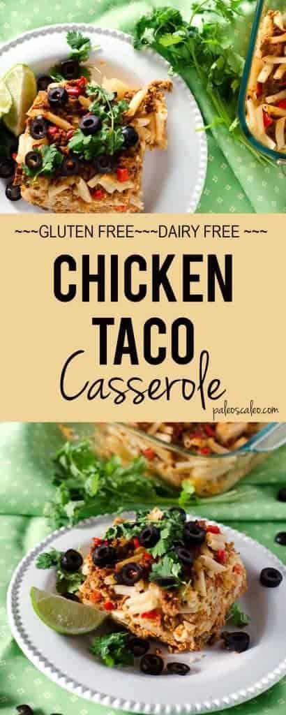 Easy Chicken Taco Casserole | PaleoScaleo.com