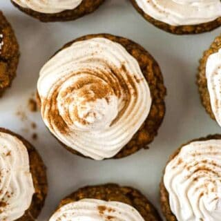 Paleo Pumpkin Cupcakes with Cinnamon Meringue Frosting