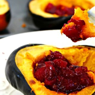 Apple Cranberry Stuffed Acorn Squash