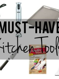 collage of essential kitchen tools