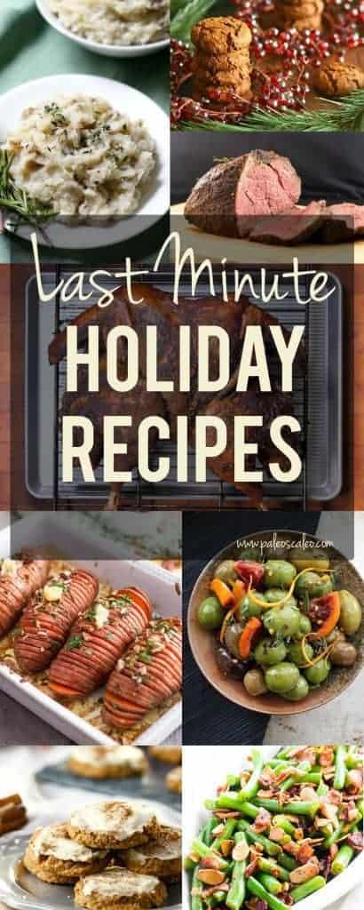 Last Minute Holiday Recipes | PaleoScaleo.com