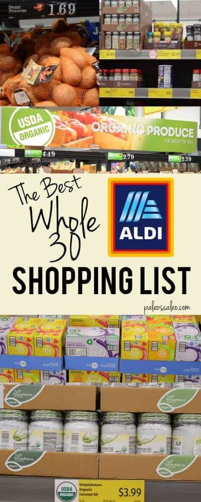A roundup of options for your Whole30 Aldi shopping trip! From produce to snacks to sauces and spices for flavor, Aldi is a great Whole30 resource.