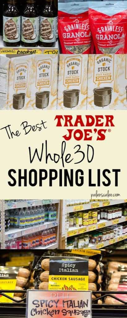 The only Whole30 Trader Joe's shopping list you'll ever need!| PaleoScaleo.com