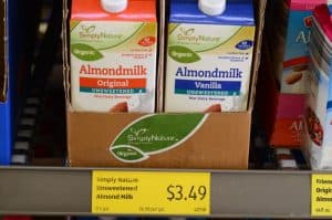 almond milk at aldi