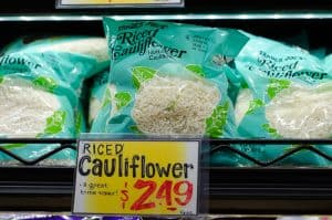 fresh bags of cauliflower rice