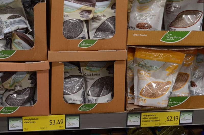 bags of chia seeds on shelf