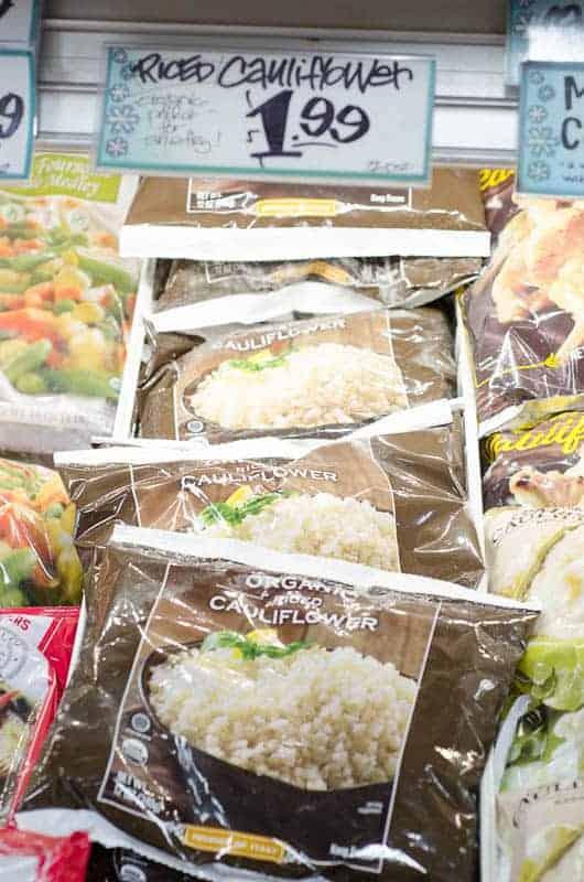 frozen bags of cauliflower rice