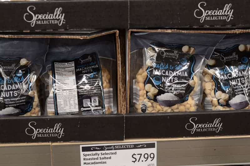 bags of macadamia nuts at Aldi