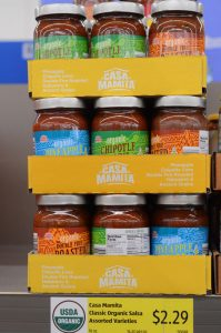 jars of salsa at Aldi