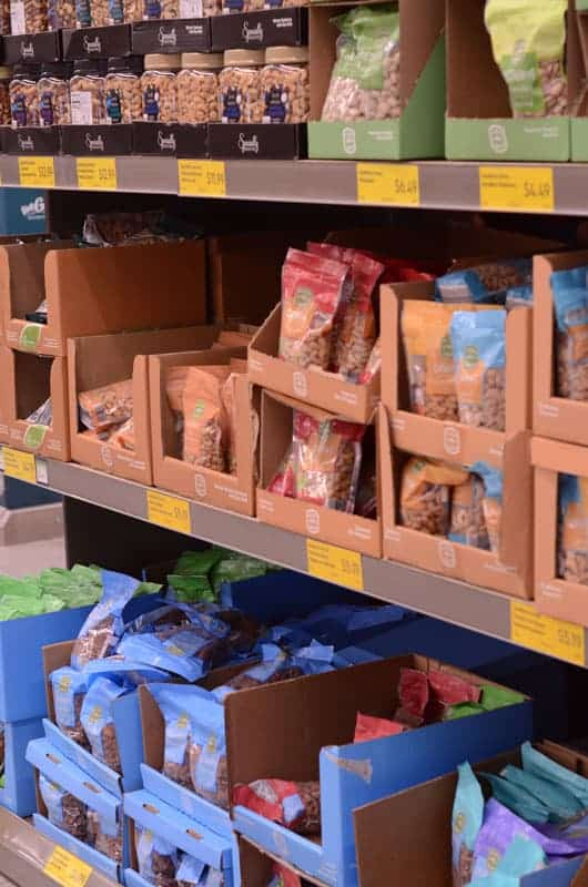 bags of nuts at Aldi