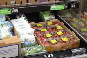 containers of strawberries at Aldi