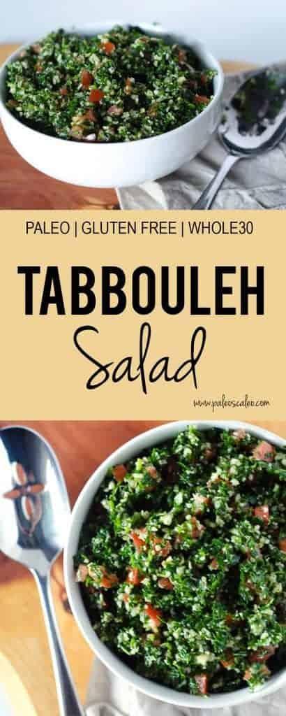 Grain Free Tabbouleh Salad | PaleoScaleo.com