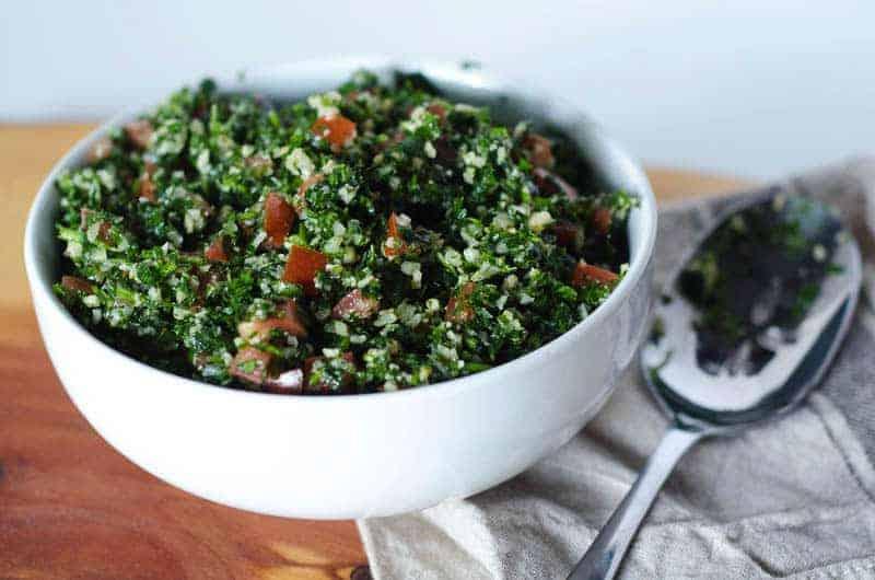 Parsley is a main ingredient in this Cauliflower Tabbouleh recipe